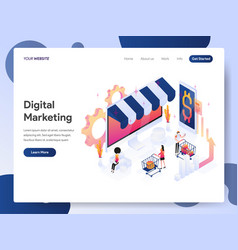 digital marketing analyst isometric concept vector image
