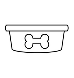 dog food bowl vector image