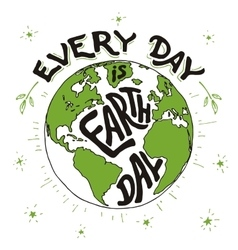 Every day is Earth day holiday card vector
