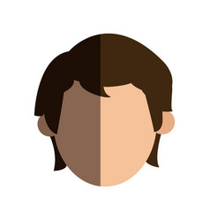 faceless head man people image vector image