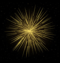 Firework lines with particle star dust vector