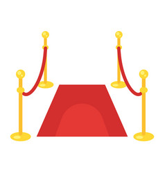 flat style of red carpet vector image