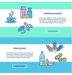 food allergy concept flyer templates in line style vector image