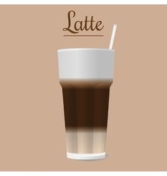 glass of latte vector image