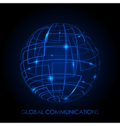 Global communications - background vector