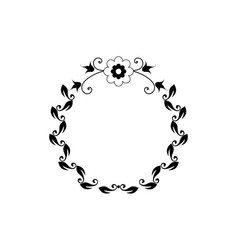graphic circle frames wreaths for design vector image