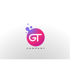 Gt letter dots logo design with creative trendy vector