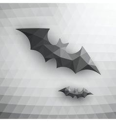 Halloween bats on abstract mosaic background vector