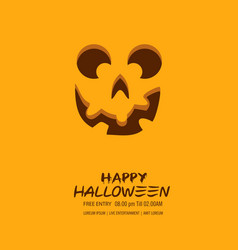 halloween pumpkin with happy face background vector image