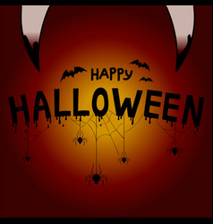 happy halloween concept post card background vector image