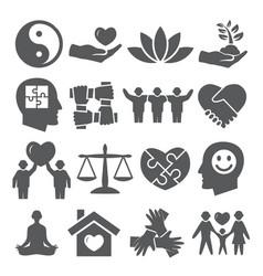 harmony icons set on white background vector image