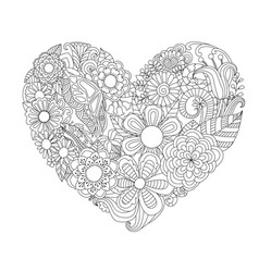 hearted shape flowers vector image