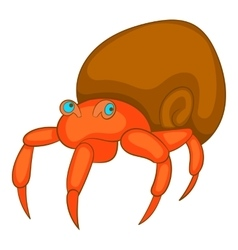 Hermit crab icon cartoon style vector