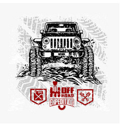 Jeep wrangler - suv car on white - elements for vector