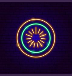 kiwi neon sign vector image