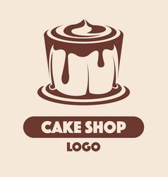 logo cake shop vector image
