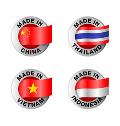 Made in china thailand vietnam indonesia vector