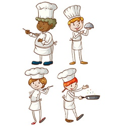Male and female chefs vector