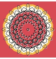 Mandala on round background vector image
