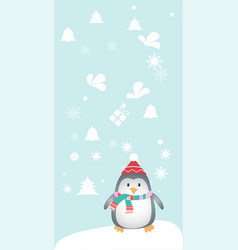 merry christmas and a happy new year lovely vector image