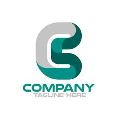 modern letters cs or sc logo vector image