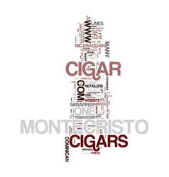 Montecristo cigars text background word cloud vector