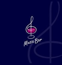 Music bar logo vector