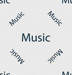 Music sign icon Karaoke symbol Seamless pattern vector
