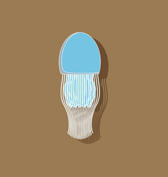 Paper sticker on background of jellyfish vector