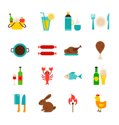 picnic grill objects vector image