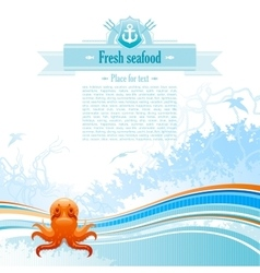 Sea travel background design for seafood vector