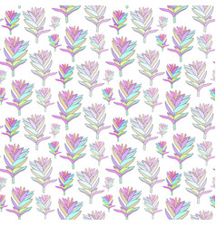 Seamless floral pattern with fantasy blooming vector