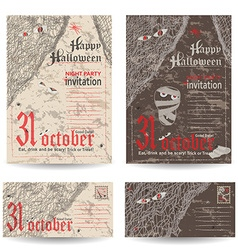 Set of vintage post cards letters and envelope for vector image