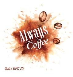 Set Watercolor Coffee Badges 3 vector image