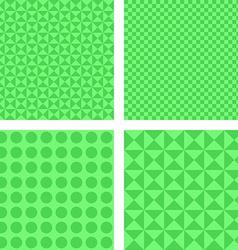 Simple green pattern set vector