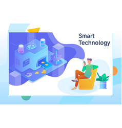 smart object and smart technology design vector image