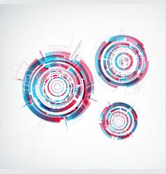 technology futuristic template vector image