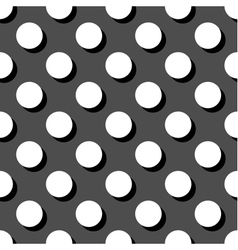Tile white and grey polka dots pattern vector