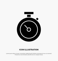 timer stopwatch watch time solid glyph icon vector image