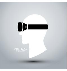 virtual reality headset icon flat icon logo vector image