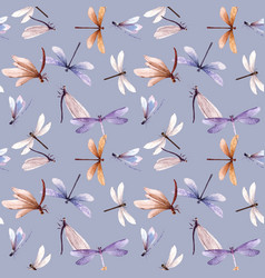 Watercolor seamless pattern with colorful vector