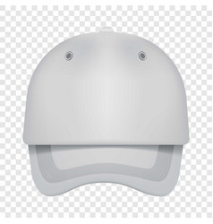 White cap front view mockup realistic style vector