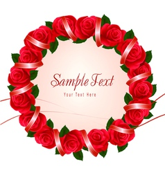 wreath of red roses vector image