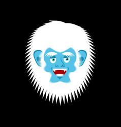 yeti cheerful emoji bigfoot happy face abominable vector image