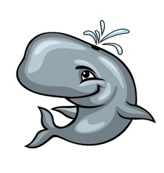 Cute sperm whale vector image vector image