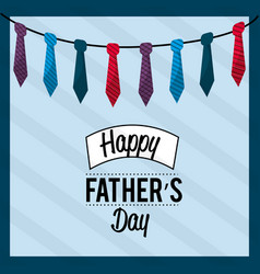 father day card with ties decoration vector image vector image