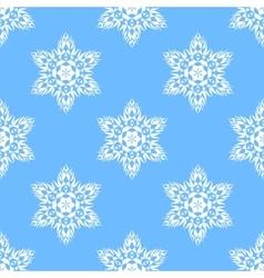 Big snowflakes seamless pattern vector image