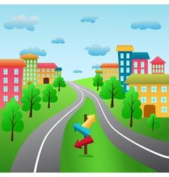cartoon city vector image