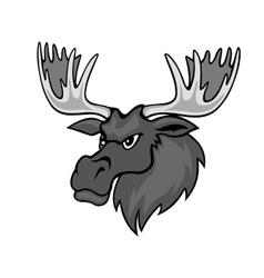 Cartoon moose vector image vector image