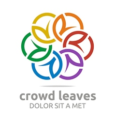 crowd leaves ecology floral design vector image vector image